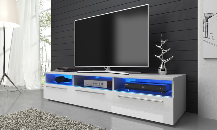 mobile tv con led detroit groupon goods. Black Bedroom Furniture Sets. Home Design Ideas