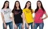 T-shirt da donna Baci&Abbracci con stampa a contrasto