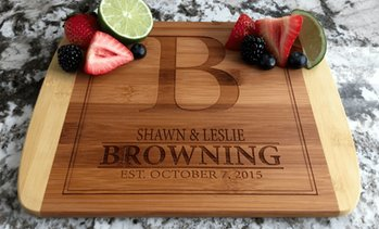 Up to 83% Off Personalized Two-Tone Cutting Board from Qualtry