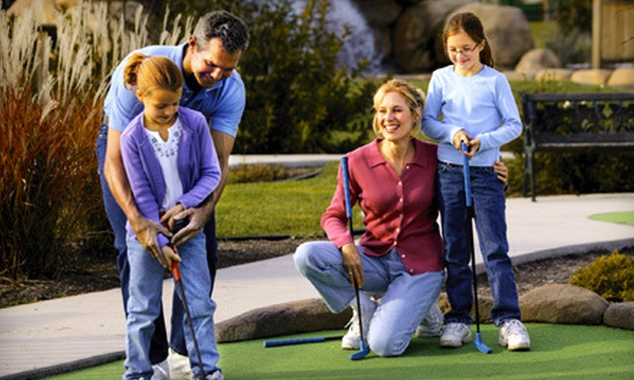 Loeschner's Village Green Family-Style Miniature Golf - Westside Connection: Mini Golf for Two or Four at Loeschner's Village Green Family-Style Miniature Golf in Grandville (Up to 58% Off)