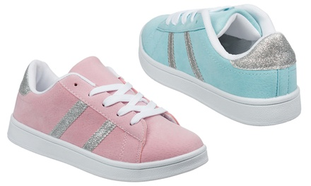 Children's Pink or Sky Blue Trainers