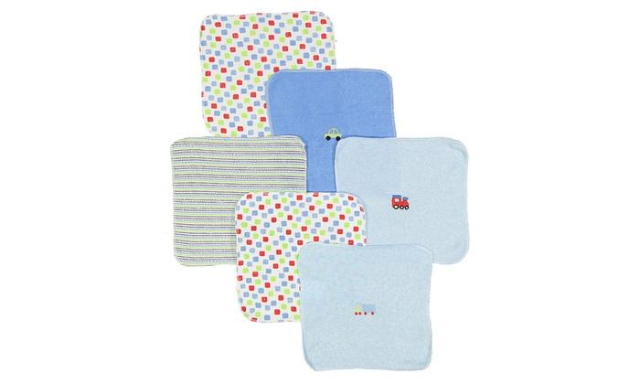 baby washcloth set 6 piece groupon goods. Black Bedroom Furniture Sets. Home Design Ideas