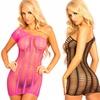 Pink Lipstick Women's Seamless One-Shoulder Dress