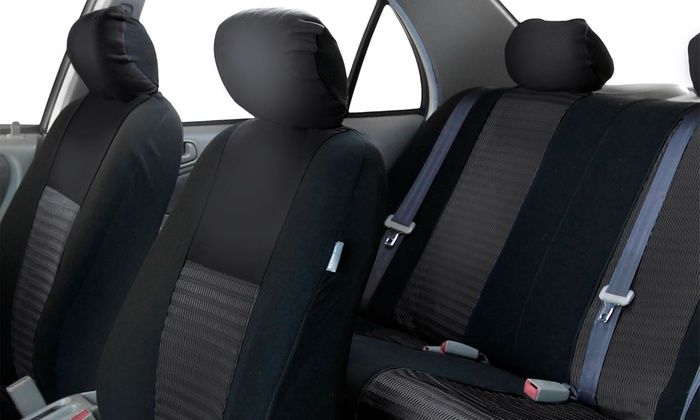 up to 68 off on 3d air mesh car seat cover set groupon goods. Black Bedroom Furniture Sets. Home Design Ideas