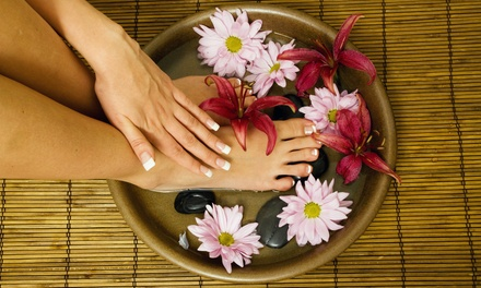Gel Manicure with Optional Deluxe Pedicure with Paraffin Wax at Millennium Salon and Nails (Up to 38% Off)