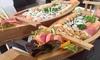 Entrée et grand bateau de sushis