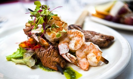 Two-Course Meal for with Optional Wine for Two or Four at Villa Toscana (Up to 62% Off)