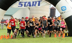 Mud, Music, Mayhem: Race Entry for Two or Five with VIP Parking and Extra Beers at Mud and Music Mayhem on August 15 (Up to 41% Off)