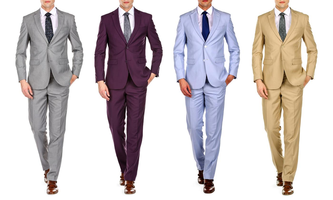 Braveman 2-Piece Spring Collection Men's Slim-Fit Suit (Multi Colors)