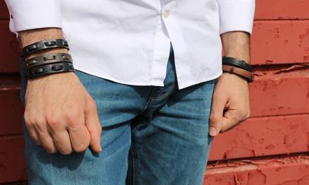 Bracelet en cuir véritable, modèle et coloris au choix à 4.99 €