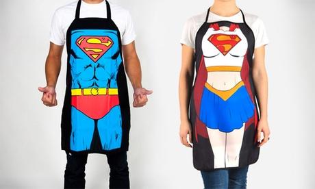 1 o 2 delantales de superhéroes