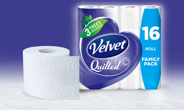 Velvet Quilted 3-Ply Toilet Tissue | Groupon Goods : quilted toilet paper - Adamdwight.com