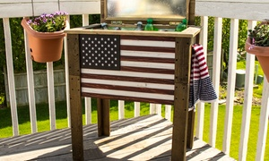 Backyard Expressions Outdoor Wooden Cooler