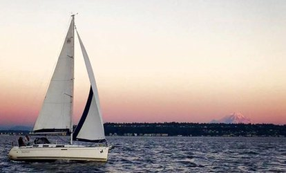 image for $175 for TGIF Sunset Sail for Two People from Windworks <strong>Sailing</strong> & Powerboating ($250 Value)