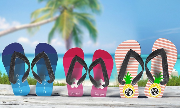 ec1f3d7ce Personalized Adult or Kids  Flip Flops from Monogram Online