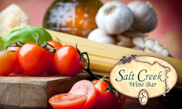 Salt Creek Wine Bar - Brookfield: $10 for $25 Worth of Wine, Cheese, and Italian Dishes at Salt Creek Wine Bar in Brookfield