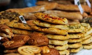 Panetteria Dormello: 1,5 kg o 2 kg a scelta tra pizza al trancio, salatini o torta salata da Panetteria Dormello (sconto fino a 54%)