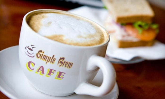 Simple Brew Cafe - Greenwood: $45 for $100 Worth of Catering or $5 for $10 Worth of Breakfast or Lunch at Simple Brew Cafe in Greenwood