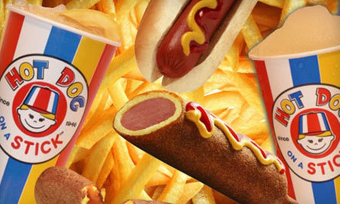Hot Dog on a Stick - San Diego: $4 for $8 Worth of Hot Dogs, Fries, and Lemonade at Hot Dog on a Stick