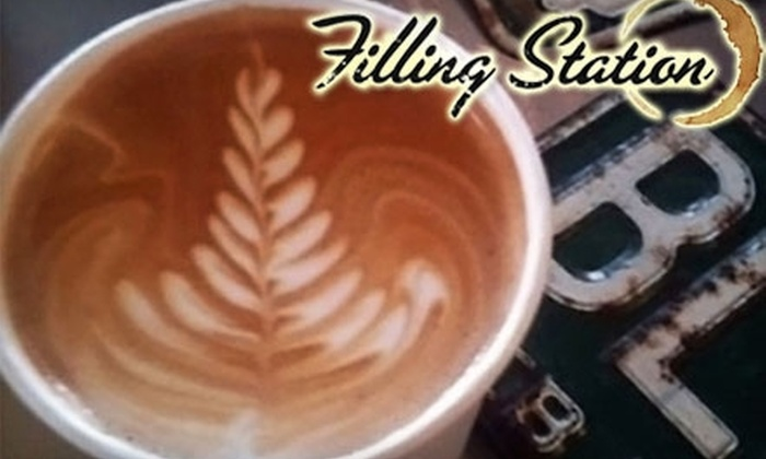 The Filling Station - Multiple Locations: $5 for $10 Worth of Espresso, Baked Goods, and More at The Filling Station