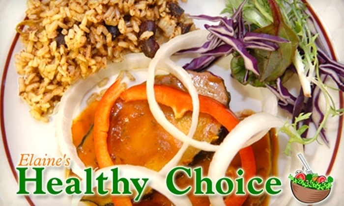 Elaine's Healthy Choice - Dixwell: $7 for $15 Worth of Fresh, Organic Vegan Fare at Elaine's Healthy Choice
