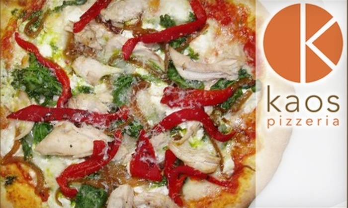 Kaos Pizzeria - Platt Park: $15 for $30 Worth of Gourmet Pizza, Beer, Wine, and More at Kaos Pizzeria