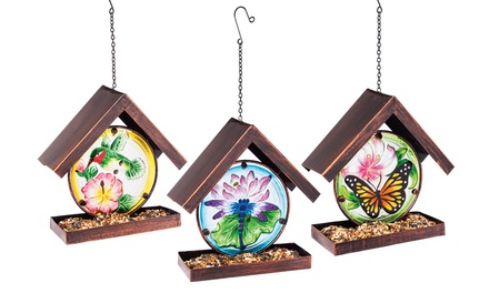 Hanging Glass Garden Bird Feeder Sets (3-Piece)