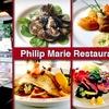 Half Off at Philip Marie Restaurant