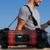 Pyle Bluetooth/NFC Boombox Stereo System with Multicolor LED Lights