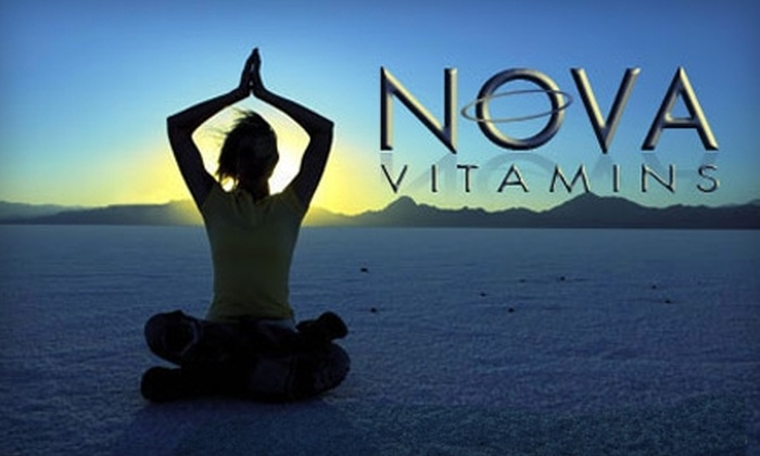 Nova Vitamins: $25 for Two Packages of Vitamin Supplements from Nova Vitamins ($51.90 Value)