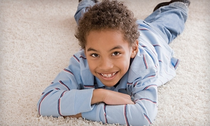 First Class Carpet Service - Seattle: $149 for a Three-Room Carpet Cleaning, Fabric Protection, and Deodorizer from First Class Carpet Service (Up to $306.70 Value)