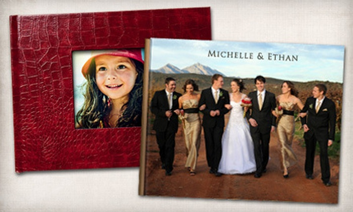 """Picaboo: 8.5""""x11"""" or 11""""x14"""" Classic Custom Hardcover Photo Book from Picaboo (Up to 75% Off)"""