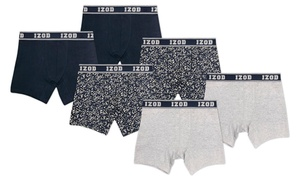 Izod Men's Cotton Stretch Boxer Briefs (6-Pack) (Sizes S & M)