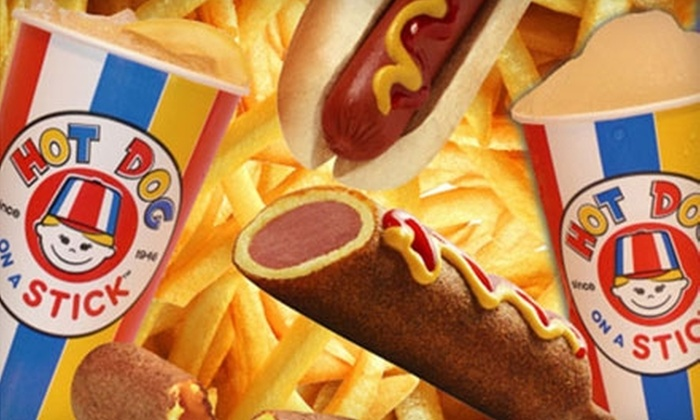 Hot Dog on a Stick - Multiple Locations: $5 for $10 Worth of Casual American Eats at Hot Dog on a Stick