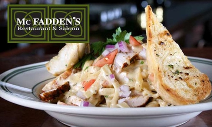 McFadden's Restaurant & Saloon - Heartside-Downtown: $10 for $25 Worth of Upscale American Fare and Drinks at McFadden's Restaurant & Saloon