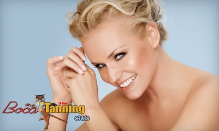 Boca Tanning Club - Multiple Locations: $10 for a Spray Tan ($30 Value) or $20 for Five Photo-Rejuvenation Sessions in the Mon Amie Collarium ($150 Value) at Boca Tanning Club