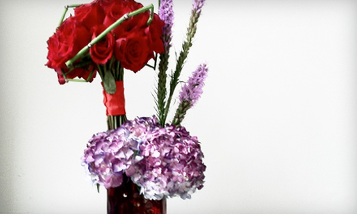 Delux Floral Boutique - Birmingham: One Dozen Premium Red Roses or Cupid's Arrow Arrangement at Delux Floral Boutique in Birmingham