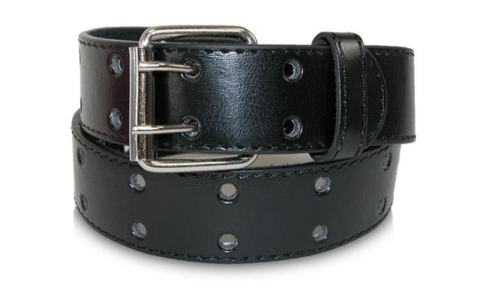 Men's Leather Double Prong Belt