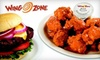 Wing Zone - Multiple Locations: $10 for $20 Worth of Wings, Drinks, and More at Wing Zone
