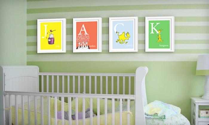 Seuss Prints: Dr. Seuss Alphabet Art, Unframed or Framed from Seuss Prints