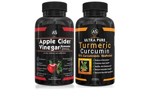 Angry Supplements Apple Cider Vinegar &Turmeric Supplements (120-Ct.)
