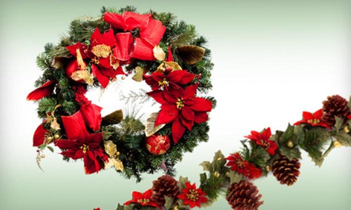 Alpine Tree & Wreath - Maple Leaf: Holiday Garland, Wreath, Tree, or Decor Package with Garland, Wreath, and Tree at Alpine Tree & Wreath (Up to 52% Off)