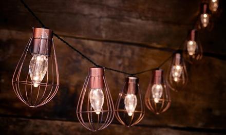 Stringhe di 10 lampadine LED solari