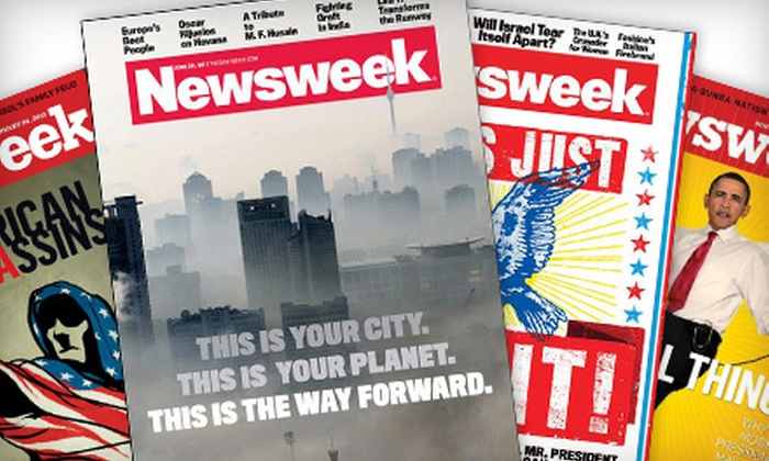 """""""Newsweek"""" - Multiple Locations: One- or Two-Year Subscription to """"Newsweek"""" from Blue Dolphin Magazines"""