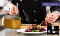Two-Course Meal with Prosecco for Two or Four at Podium Restaurant at Hilton Manchester Deansgate (Up to 47% Off)