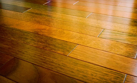 Floor Buff and Polyurethane Coat for Up to 180 Square Feet of Hardwood Flooring (a $406 value)  - A Lasting Impression in