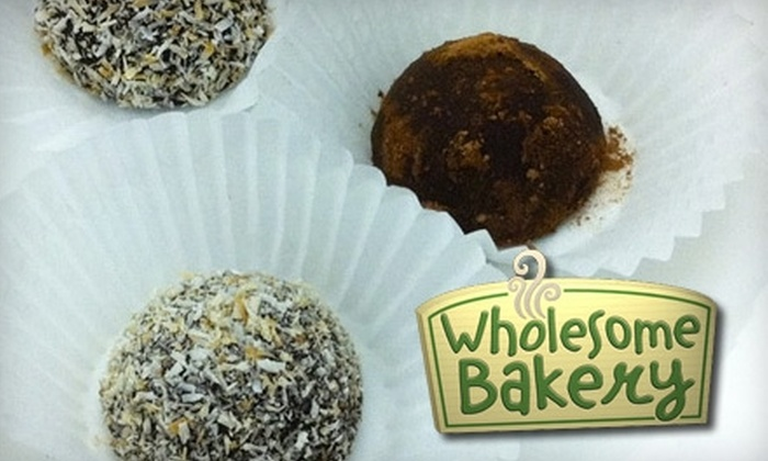 Wholesome Bakery - Mission: $12 for a Mixed Box of Nine All-Natural, Gourmet Chocolate Truffles and Three Toffees at Wholesome Bakery ($24 Value)