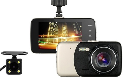 1080P HD Front and Rear Dash Cam Recorder with Optional 32GB SD Card