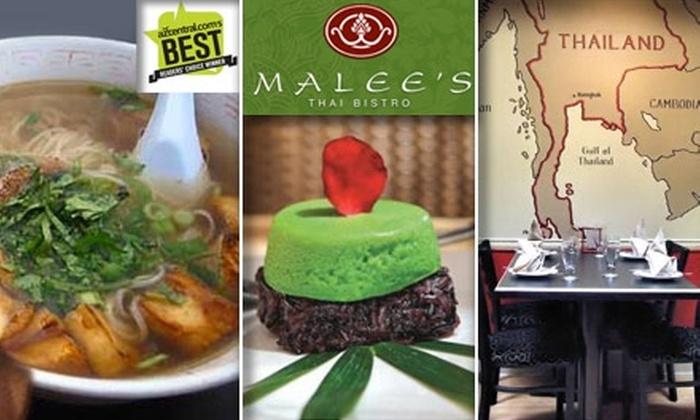 Malee's Thai Bistro - Downtown Scottsdale: $20 for $40 Worth of Grub and Guzzle at Malee's Thai Bistro