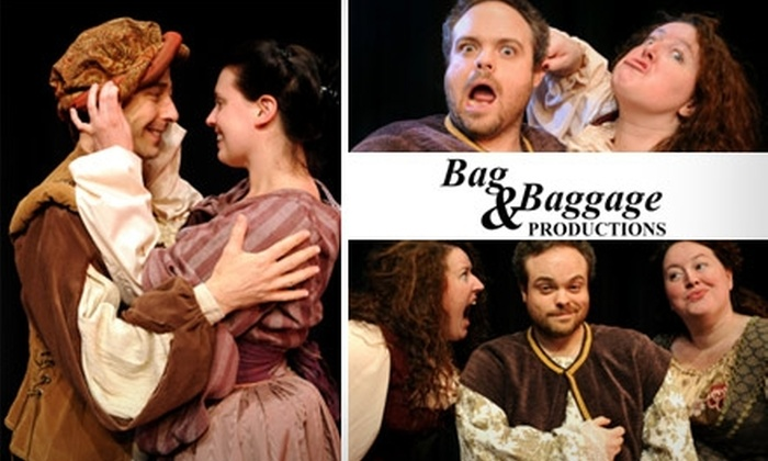 """Bag & Baggage Productions - Hillsboro: $11 Ticket to """"Taming of the Shrew"""" and """"The Woman's Prize"""" by Bag and Baggage Productions at the Venetian Theatre (Up to $23 Value). Buy Here for Thursday, February 25, at 7:30 p.m. Click Below for Additional Dates and Times."""